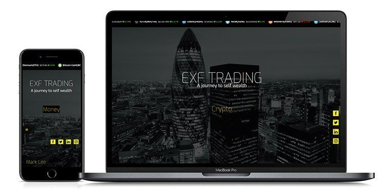 EXF Trading Finance Education Website Design By Lexi Media